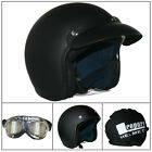 Leopard LEO-604 Open Face Scooter Motorcycle Motorbike Helmet Mirrored Goggles
