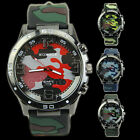 Popular Womage Silicone Men Unisex Camouflage Military Watch Sport Watch
