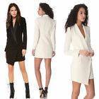 Fashion Womens One Button Irregular Slim Suit Coat Blazers Long Sleeve Jacket
