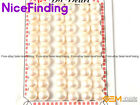 Button Pearl Half Drilling Bead 9 Pairs For Earrings Rings Making 10-10.5mm