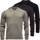 Mens Polo Shirt Long Sleeve T Shirt Tops Tee Small Medium Large XL XXL