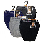 3 Pairs Mens Cotton Classic Briefs / Slips Underwear S,M,L,XL