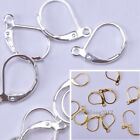 50pcs Silver plated/Gold plated Copper France Earring Hooks Findings 15MM