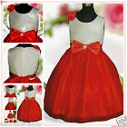 NWT Reds Christneing Anniversary Christmas Party Flower Girls Dresses SIZE 2-10Y