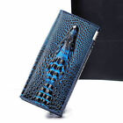 Chic Crocodile Design Genuine Leather Luxurious Purse Women Wallet Lady Hand Bag