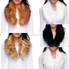 Large Faux Fur Collar Stole Scarf Fashion For Blogger Jacket Coat Outfit New