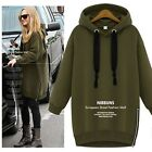 Korean Women Autumn Winter Hoodies Sweater Pullover Outerwear Jumper Jacket Coat