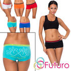 Funny Ladies Briefs Dont Touch Knickers Slim Boyshort Boxers Sizes 8 - 14 Fg3116