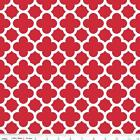 QUATREFOIL  - RED - RILEY BLAKE 100% COTTON FABRIC