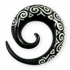 Horn Tribal Spirale Expander knochen plug piercing flesh tunnel taper ohrringe