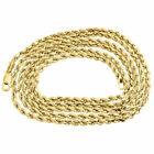Mens or Ladies 10K Yellow Gold 2.5 MM D/C Hollow Rope Chain Necklace 16-30 Inch