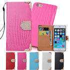 "Flip Wallet Stand PU Leather Case Cover For iPhone Apple 4s 5s 6 4.7"" 6Plus 5.5"""
