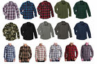 Faded Glory Men's Long Sleeve Traditional Plaid Flannel 2 pocket Button Shirt