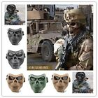 New Skull Skeleton Full Face Mask Hunting Tactical Military Costume Halloween