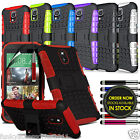 HTC Desire 610 Anti Shock Proof Dual Layer Defender Kick Stand Builders Case