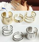 3 -er Set drei Ringe Fingerspitzen Ring Gliederring Fingerring Blogger Statement