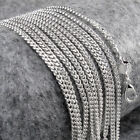 "Wholesale 5Pc 925 Sterling Silver Flat Side Chain Plated Necklace 16""-30"" Jf1203"