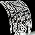 Wholesale 5Pcs 925 Sterling Silver Italy Figaro Chain Plated Necklace Jf1206