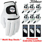 TITLEIST PERMASOFT GOLF GLOVES FULL CABRETTA LEATHER PALM ALL SIZES MENS