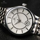 KS 2 Colours Automatic Mechanical Date Display Mens Steel Sport Wrist Watch +Box