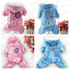 Pet Puppy Dog Winter snow pink & blue cotton-padded jacket pet clothes 5size 59*