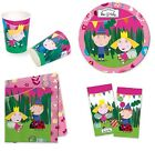 BEN & HOLLY Birthday PARTY RANGE (Pink)(Partyware/Invites)