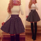 New Women Bandage Bodycon Long sleeve Polka Dot Sexy Cocktail Mini Dress Vogue