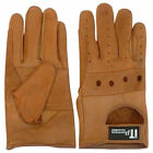 Leather Riding Gloves Soft Driving Wheel Chair Gloves Brown Kids,Gents,Ladies