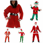 SANTA CLAUS FANCY DRESS FATHER CHRISTMAS COSTUME ELF MASCOT DELUXE XMAS OUTFIT