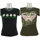 LADIES IRELAND IRISH TSHIRT SHEEP CELTIC SPIRIT TEE TOP WOMAN FEMALE 8 10 NEW