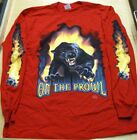 Long Sleeve Red T Shirt Panther 3 Sizes to choose from fnt