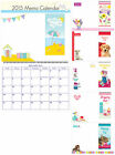 MEMO CALENDAR 2015 (Month to View) with Shopping Pad & Notes- Choice of Designs