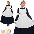 Victorian Nurse Ladies Fancy Dress Florence Nightingale Womens Adults Costume