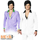 1970s Disco Suit Mens Saturday Night Retro Fever Fancy Dress Adults 70s Costume