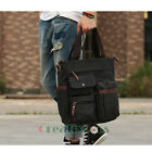 New Men Canvas Leather Travel Laptop Cross Body Messenger Shoulder Tote Hand Bag