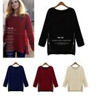 Womens Oversized  Knitwear Knitted Sweater Long Sleeve Cardigan Loose Jacket Top