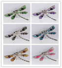 Attractive Rhinestone Crystal Alloy 6 Colors Dragonfly Pin & Brooch For Women