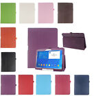 """Folio Leather Case Cover For Samsung Galaxy Tab 4 10.1"""" SM-T530 Tablet Tide"""