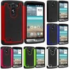 For LG G3 VIGOR Hybrid Rugged Shockproof Armor Protective Hard Soft Case Cover