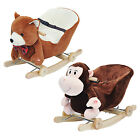 Kids Rocking Horse Toy Children Rock Baby Animal Rocker Traditional Gift NEW