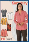 Sew & Make Simplicity 5926 SEWING PATTERN - Womens Plus TOPS BLOUSES SHIRTS