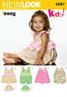Sew & Make Simplicity 6687 New Look SEWING PATTERN - Baby Girl ROMPER HATS DRESS