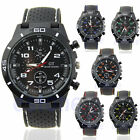Men's Luxury Black Stainless Steel Analog Quartz Sport Wrist Watch New image