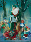 Art Print / Framed / Plaque-d Morgan - Santa With Elves - Mor110
