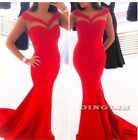 Sexy Women Female Celeb Sleeveless Party Formal Evening Gown Long Maxi Dress Red