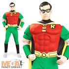 Robin Muscle Chest Men's Fancy Dress Batman Movie Superhero Adult Costume Outfit