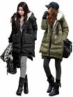 Women Ladies Winter Warm Long Down Jacket Hooded Military Thickening Coat Outfit