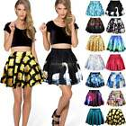 Sexy High Waist Pleated Skirts Short Mini Skirt Skater Flared Tutu Dress B20E