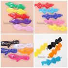 20/100x Lovely Mixed Color Charms Bowknot Plastic Hair Clips Girl Accessories BS