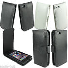 Real Genuine Cow Leather Flip Wallet Case Pouch Cover For New Apple iPhone 5/5s